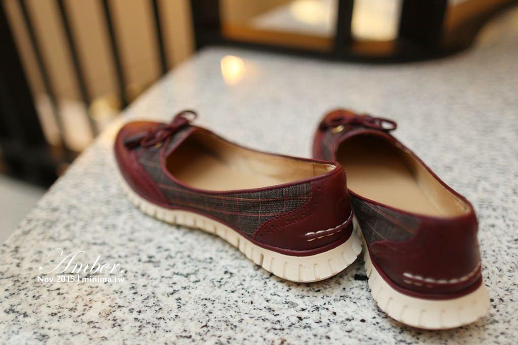 穿搭,好走,女鞋,牛津雕花,氣墊鞋,蘇格蘭格紋,ABS系統,hannfort,英倫風,118