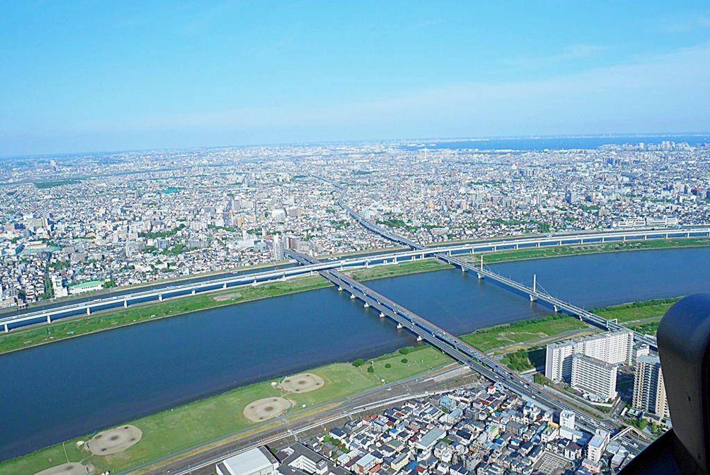 日本,東京自由行推薦行程,東京必去景點,隅田川,台場,晴空塔,東京直升機,134