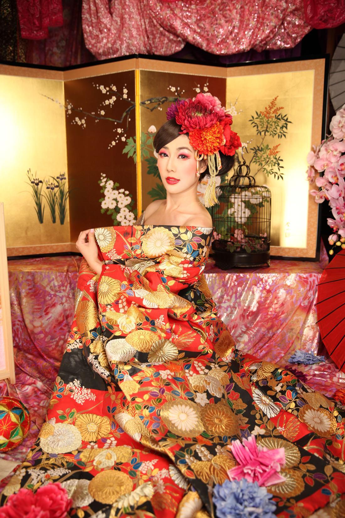 京都推薦行程,日本專業攝影,花魁體驗,花魁服裝造型,114